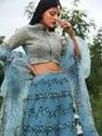 Exclusive Embroidery Blue Party Wear Lehenga Choli By Parvati Fabric (76624)