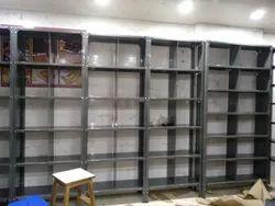 Powder Coated Gray Slotted Angle Racks, 50 Kg Per Shelf