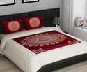 Gold Print Bed Sheet