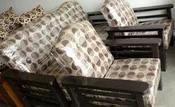 Wooden Armrest Sofa
