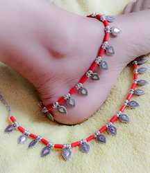 Oxidized Anklets with Beads