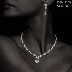 Cubic Zircon Necklace Set