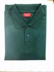 Men's Plain Green Collar T-Shirt