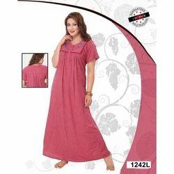 Ladies Half Sleeve Full Length Ladies Nightgown