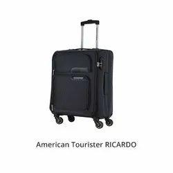 American Tourister Black Ricardo Spinner Trolley Bag, For Travelling
