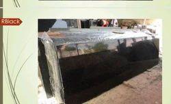 R Black Granite, Thickness: 15-20 mm