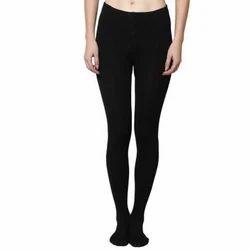 Black Ladies Woolen Legging