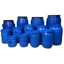 Blue Mitsu Chem Hdpe Full Open Top Drums