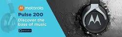 Motorola Pulse 200 Bass Over-Ear Stereo Headphone Extra Bass & Alexa (Black)