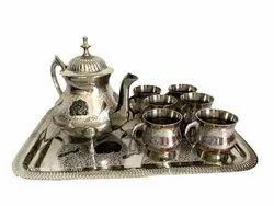 Brass Jar Cup Tea Set Decorative And Gift Item