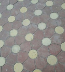 Concrete Triangle Kansal Moon Blossom Paver 50mm, For Flooring, Dimensions: 200