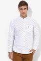 Bay Island White Printed Regular Fit Casual Shirt