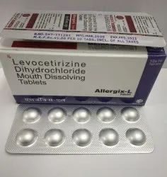 Levocetirizine 5mg Tablets, Mouth Dissolving tablets