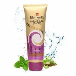 Elements Radiant Glow Face Wash, Packaging Size: 100 G, Packaging Type: Tube