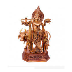 Brass Cow Krishna Murti