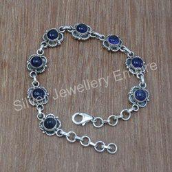 925 Sterling Silver Amethyst Gemstone Handmade Bracelet