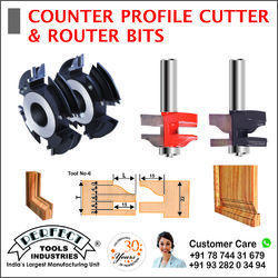 COUNTER PROFILE CUTTER AND ROUTER BITS