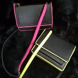 Black Sling Bag with A Dash Of Neon