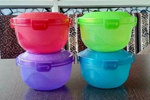 Ambica Tech Four Lock Storage Household Plastic Container, Packaging Type: Carton Box, Capacity: 400 Gm