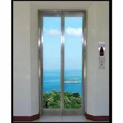 Center Opening Glass Door