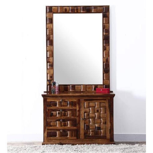 Teak Wood Mirror Dressing Table