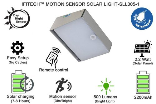 Ifitech Remote Control Pir Motion, Remote Motion Sensor For Outdoor Lights