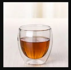 Double Wall Glass, Capacity: 250 G, Packaging Type: Box