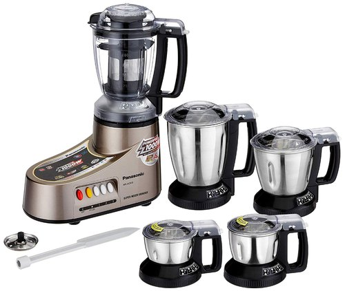 Panasonic Mixer Grinder MX-AC555 New- 5 Jar 550 Watt Mixer Grinder (Bronze)
