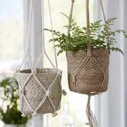 Macrame Hanging Basket Pot Holder