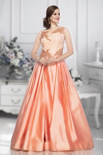 14e1868057c Women Satin Party Wear Gown