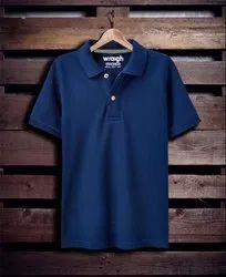 Wraigh Cotton Men Plain Collar T Shirts