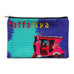 Pink Taxi Canvas Utility Pouch