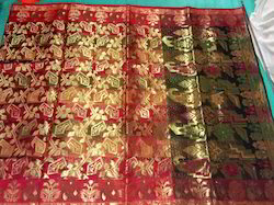 Art Silk Kora Saree