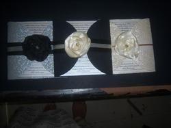 Multicolor Handmade Custom Made Wedding Cards, Size: 5x8