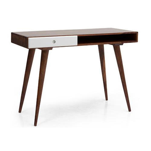 Incroyable Sheesham Wood Brown U0026 White Modern Study Desk, Size: 115 X 49 X 80