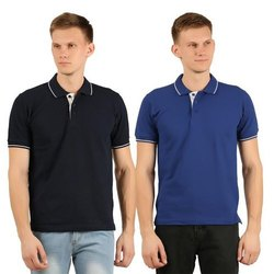 Mens Collar Neck Plain T-Shirt