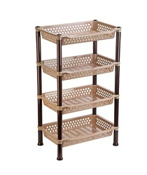 427 X 277 X 720 Mm Dynasty Plastic Multilayer Rack Small 4 Tier