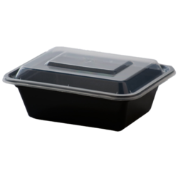 Air Tight Black Containers with Lids