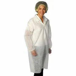 White Plain 50 GSM Non Woven SMS Gown