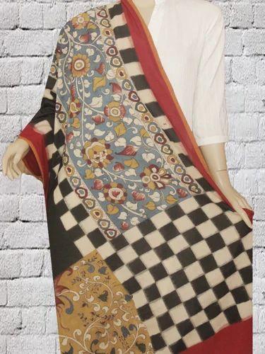 20f734fb1e704 Intricately Hand Painted Ikat Kalamkari Dupatta - Red Sanders Store ...