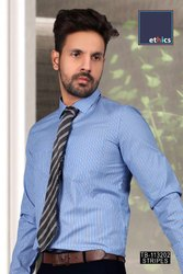 Blue Color Mens Formal Uniform Shirt