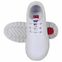 Men Polymer White School Shoe, Size: 5-11