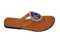 Women Embroidered Designer Faux Leather Kolhapuri Chappal