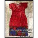Cotton Half Sleeve Ladies Designer V Neck Nightgown, Packaging Type: Packet