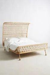 Bamboo European Wooden Bed 3 Designer Bed, Size: Queen