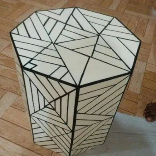 Resin Inlay Side Table