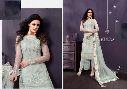 Embroidered Net Pakistani Designer Salwar Kameez Rs 4450 Piece Id 19842083888