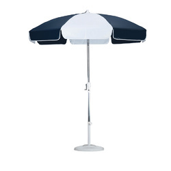 Printed White and Black Lawn Umbrella