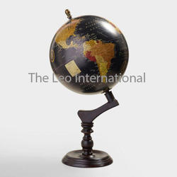 Decorative Globe With Wooden Base