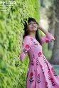 Ladies Pink Cotton One Piece Dress